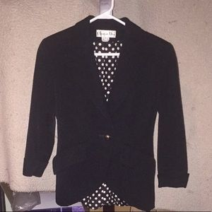 Black Womans Christian Dior Blazer Suit top size 4